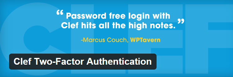 Clef Two-Factor Authentication Most Popular WordPress plugins free