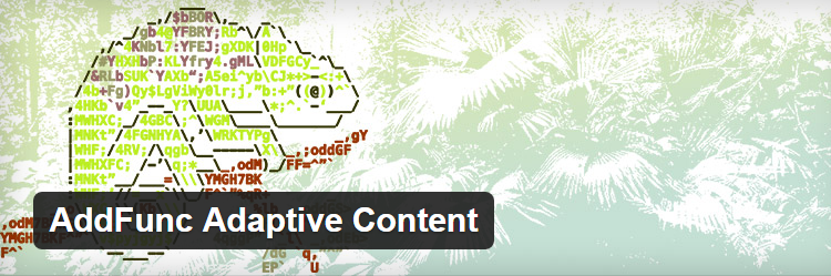 AddFunc Adaptive Content - Free & Best WordPress mobile site plugins