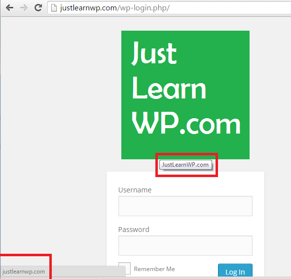 Change login logo url and title Plugin WordPress Final