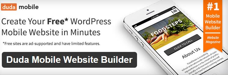 Duda Mobile Website Builder Best WordPressmobileplugins free