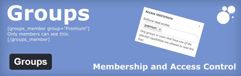 Groups best most popular WordPress membership plugins