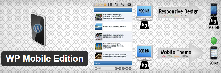 WP Mobile Edition Best WordPress mobile site plugins