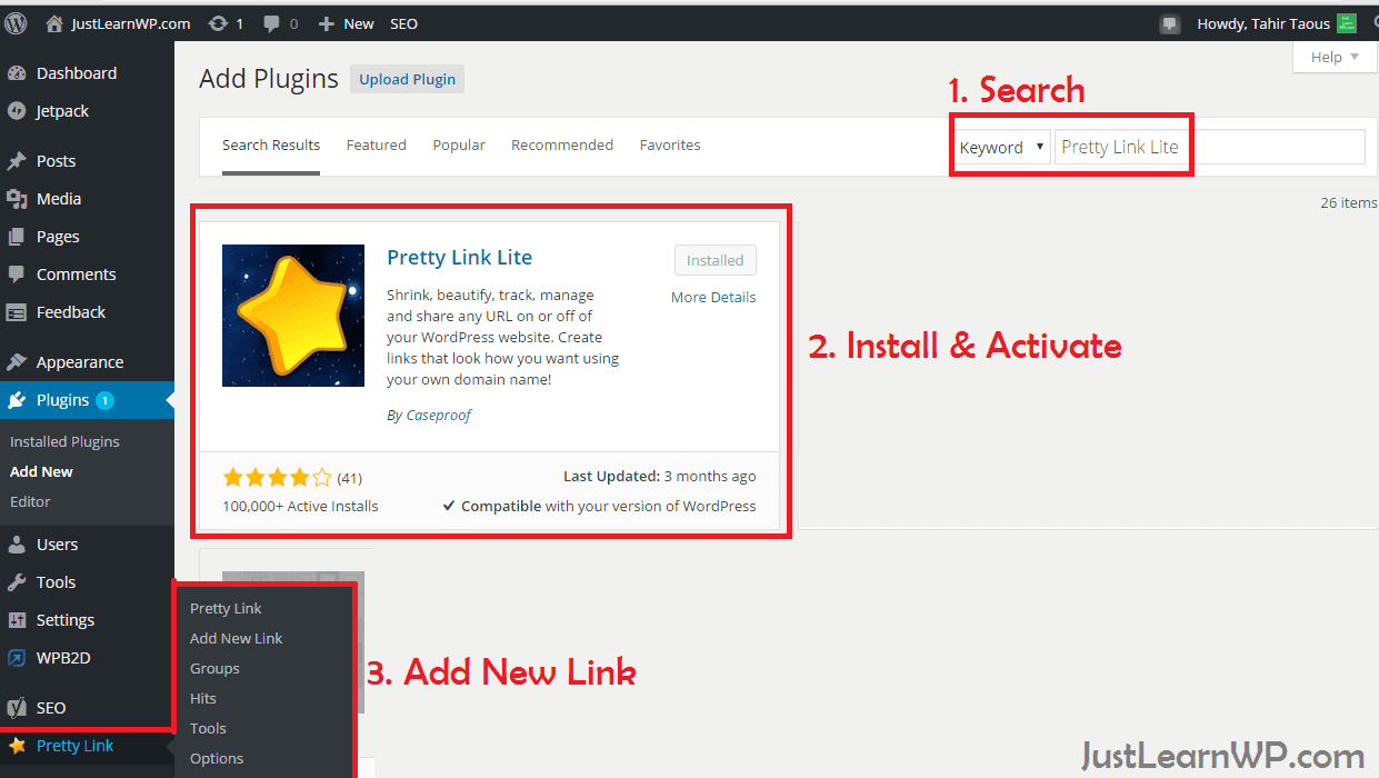 Best Way To Hide Affiliate Links Using WordPress Pretty Link Lite