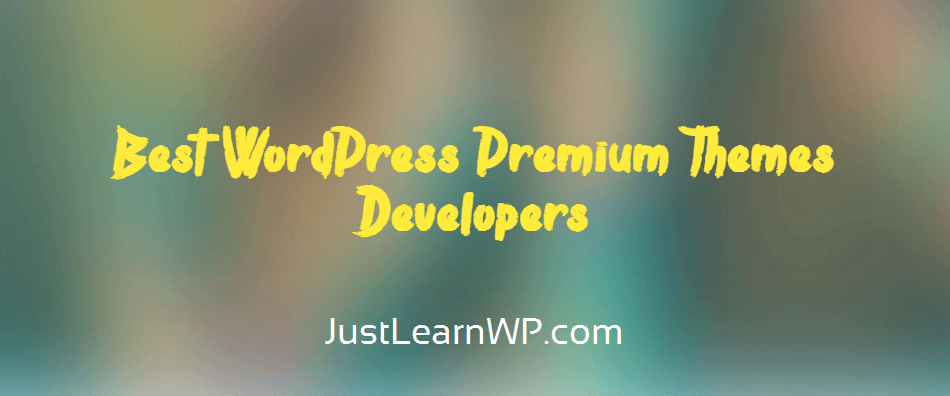 Best WordPress Themes Premium Developers