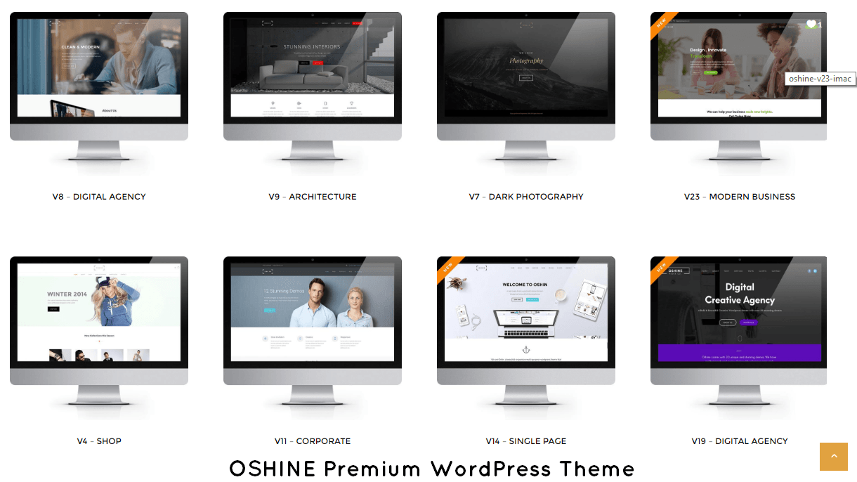 oshine Premium Responsive WordPress Themes