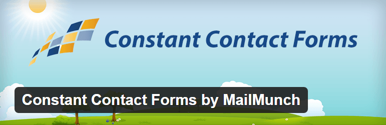 Constant Contact Forms by MailMunch Contact Form Maker WordPress Plugins