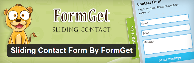 Sliding Contact Form By FormGet Contact Form Maker WordPress Plugins