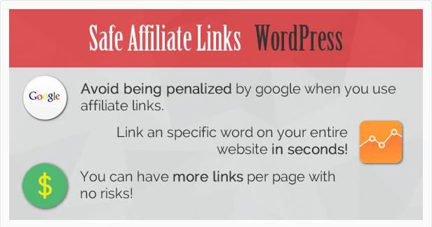 Safe-Affiliate Links Cloak Affiliate Links WordPress Plugin