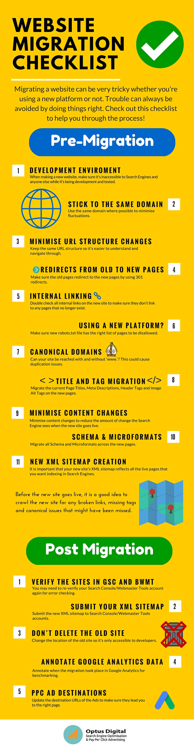 How To Transfer Website From One Host To Another - WEBSITE MIGRATION CHECKLIST - Infographic