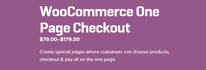 WooCommerce One Page Checkout - WooCommerce Best WooCommerce Plugins 2016 2017