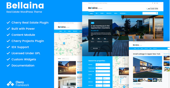 bellaina  - Real Estate WordPress Premium Theme