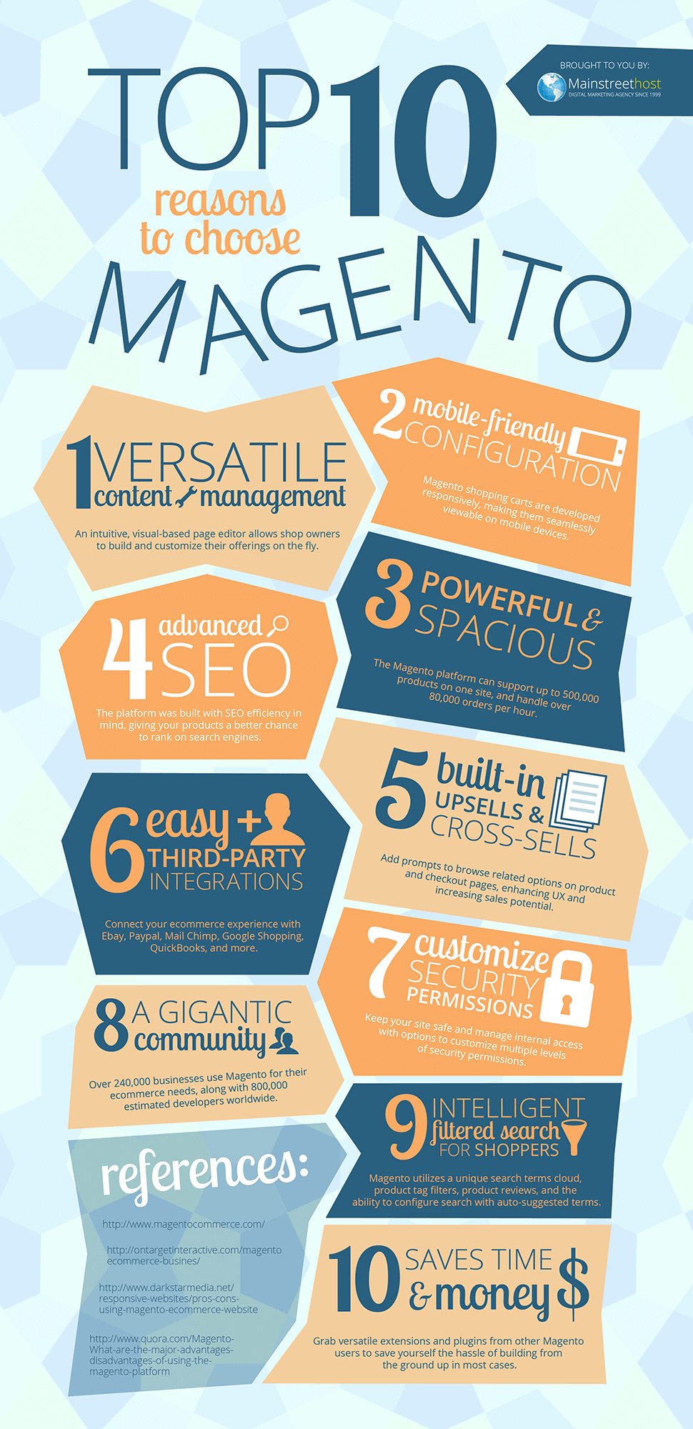 cms comparison - 10 reasons to choose magento infographic