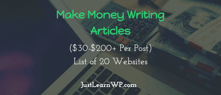 $30-$200+ Per Post) List of 20 Websites