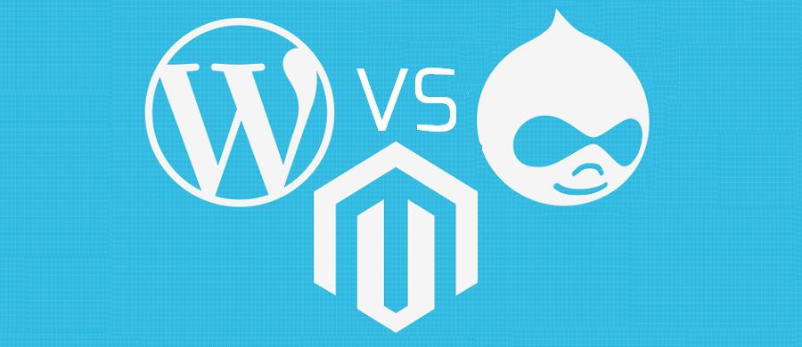 WordPress vs Drupal and Magento