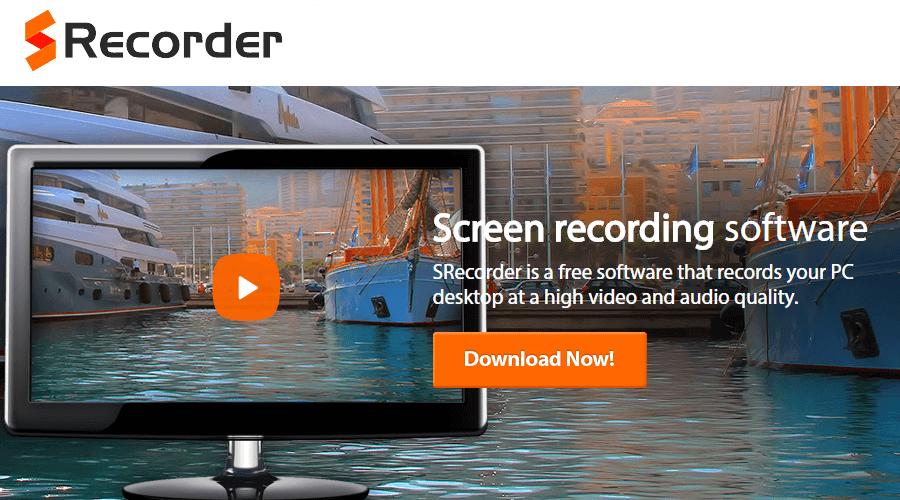 sRecorder free screen recorder
