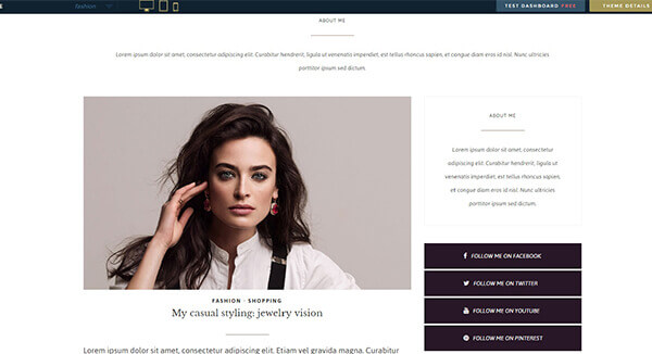 vogue WordPress Theme