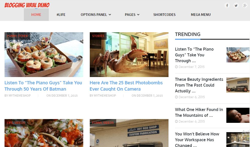 Blogging WordPress Theme - MyThemeShop