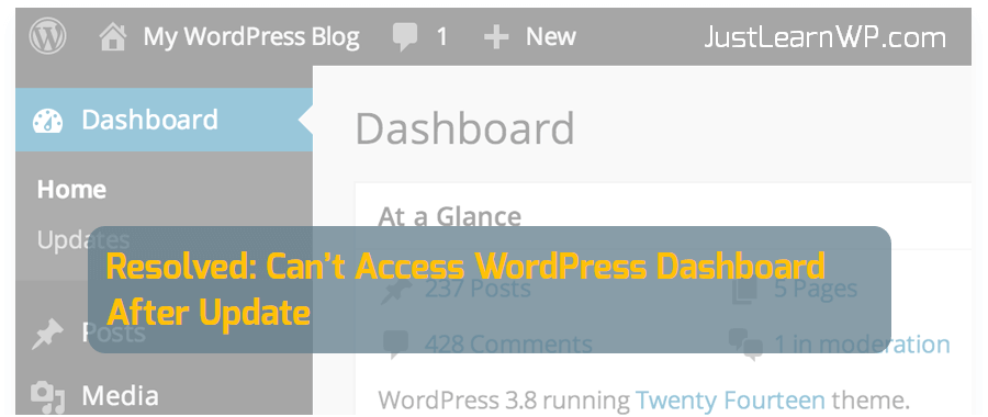 Resolved: Can't Access WordPress Dashboard After Update