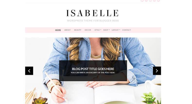 Isabelle - Blog & eCommerce Theme