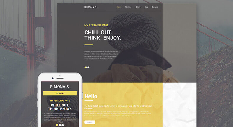 Personal Page WP Theme