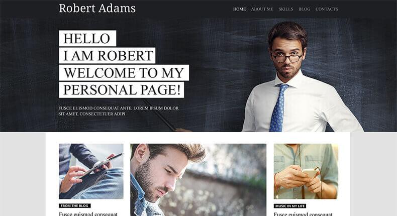 Personal Profile WordPress Theme