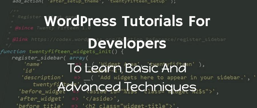wordpress tutorial for developers