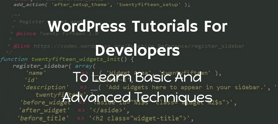 wordpress tutorial for developers