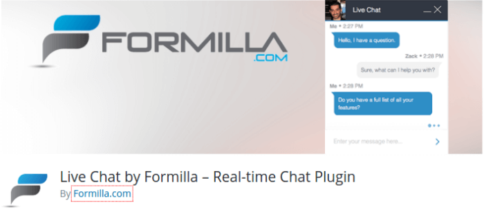 formilla-live-chat