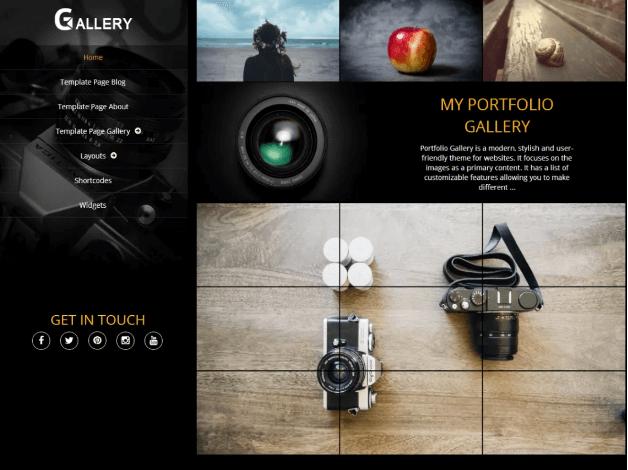 portfoliogallery photography wordpress theme