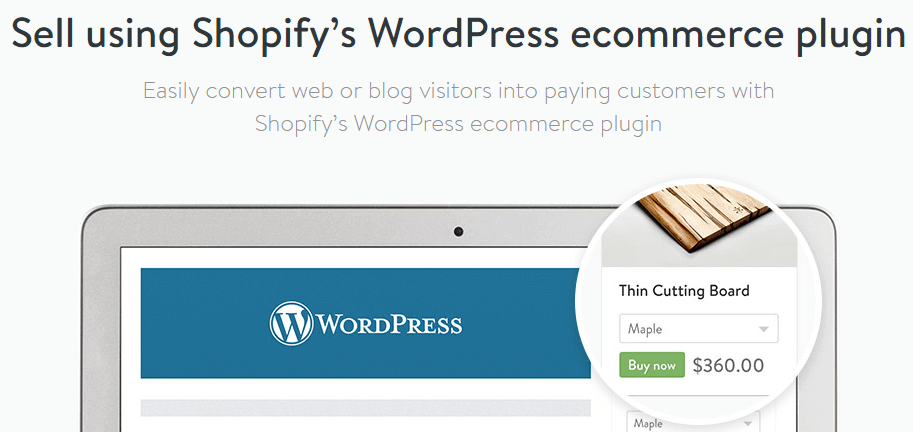 shopify WordPress eCommerce plugin