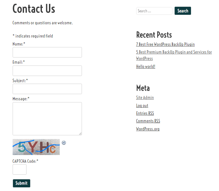 Fast Secure Contact Form Preview