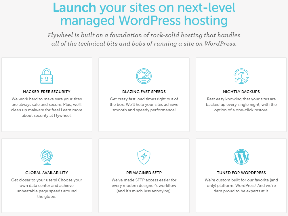 FlyWheel The best managed WordPress hosting