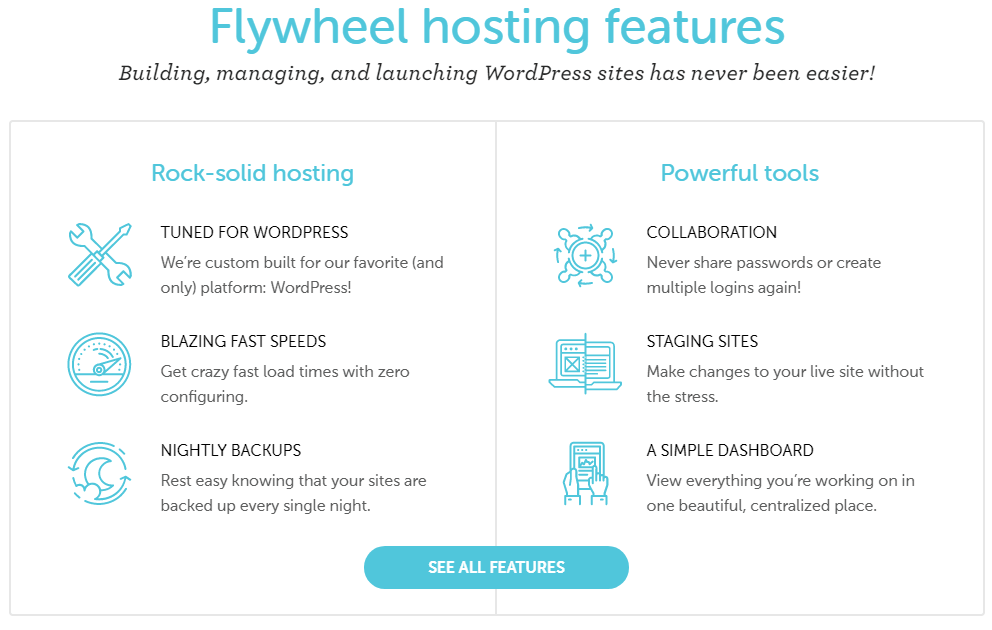 Flywheel WordPress Hosting Features