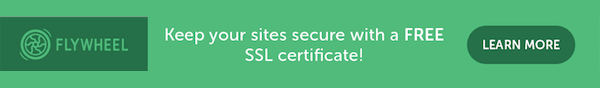 flywheel WordPress hosting with free SSL certificate