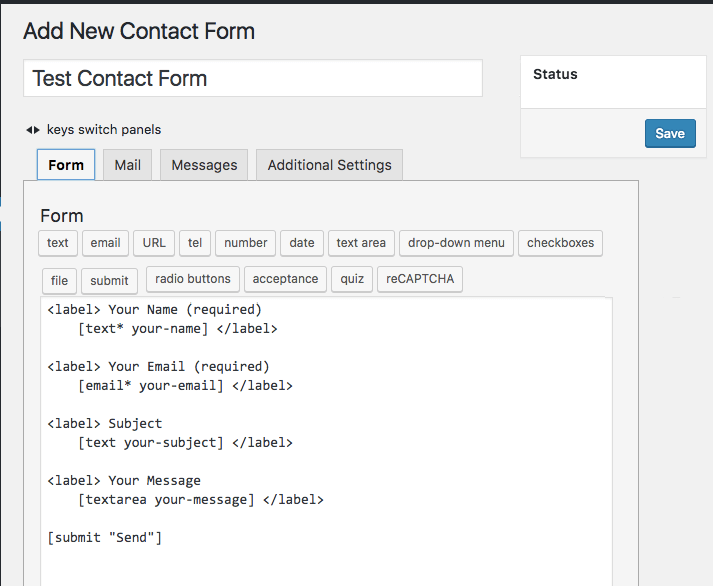 test contact form 7
