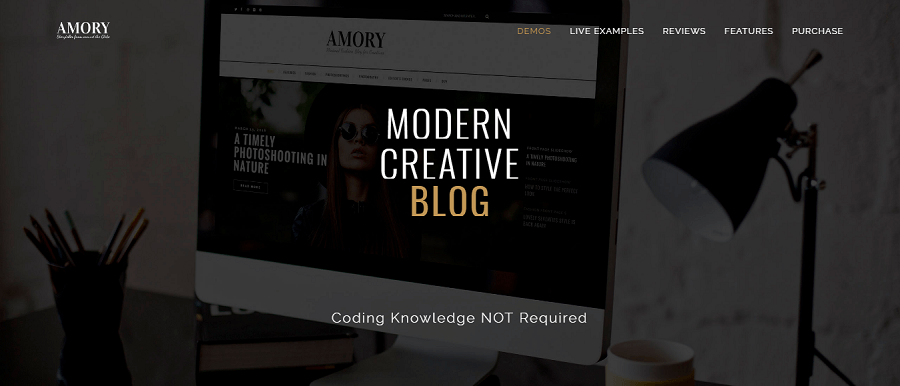 Amory Blog A Responsive WordPress Blog Theme Preview ThemeForest