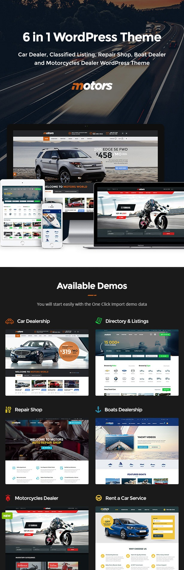 Motors - Ultimate classified add theme for WordPress