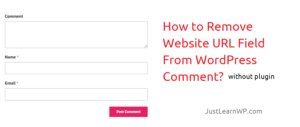 How to Remove Website URL From WordPress Comments without plugin?