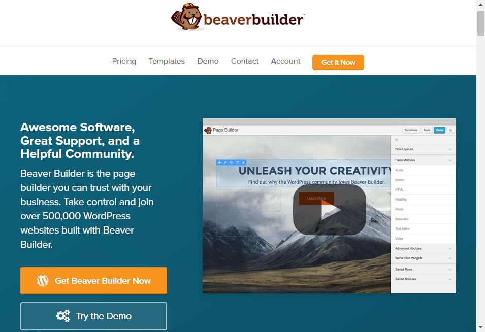 WordPress Page Builder Plugin Beaver Builder.