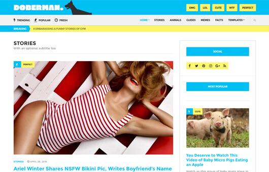 doberman premium WordPress theme