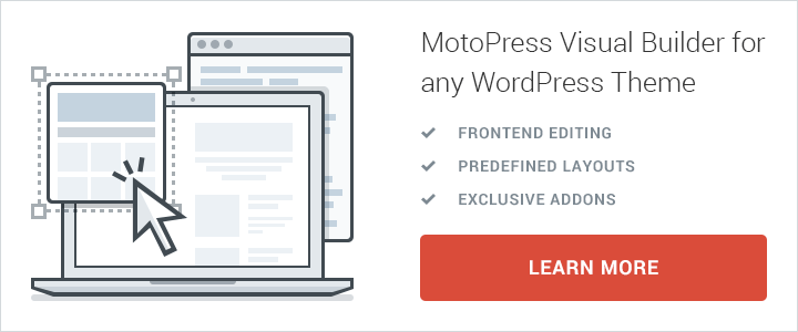WordPress frontend page builder motopress.