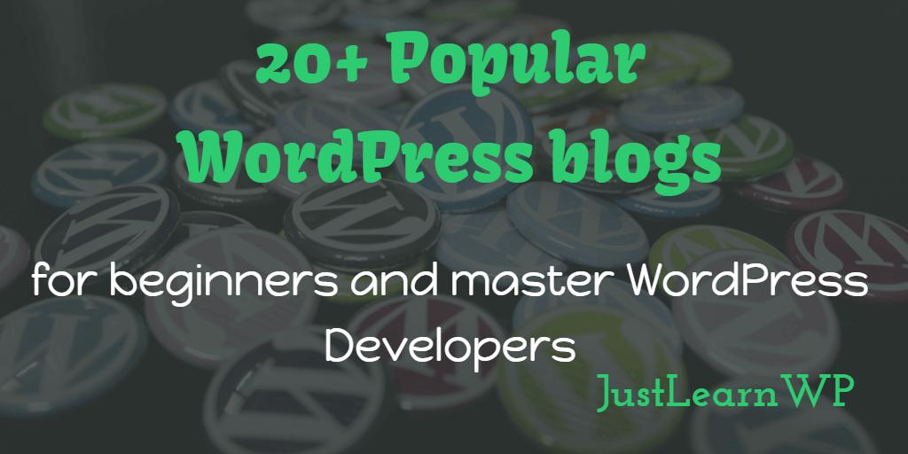 most popular WordPress blogs to follow