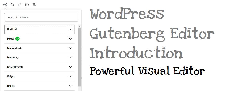 WordPress-Gutenberg -editor