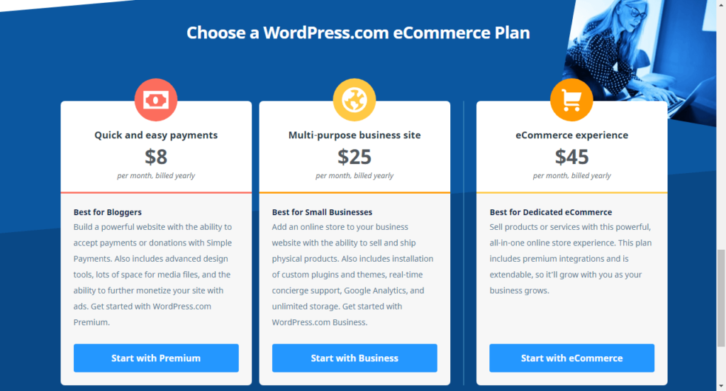 create powerful eCommerce websites and online stores with WordPress.com
