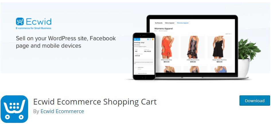 ecwid eCommerce solution for WordPress, Drupal, Joomla