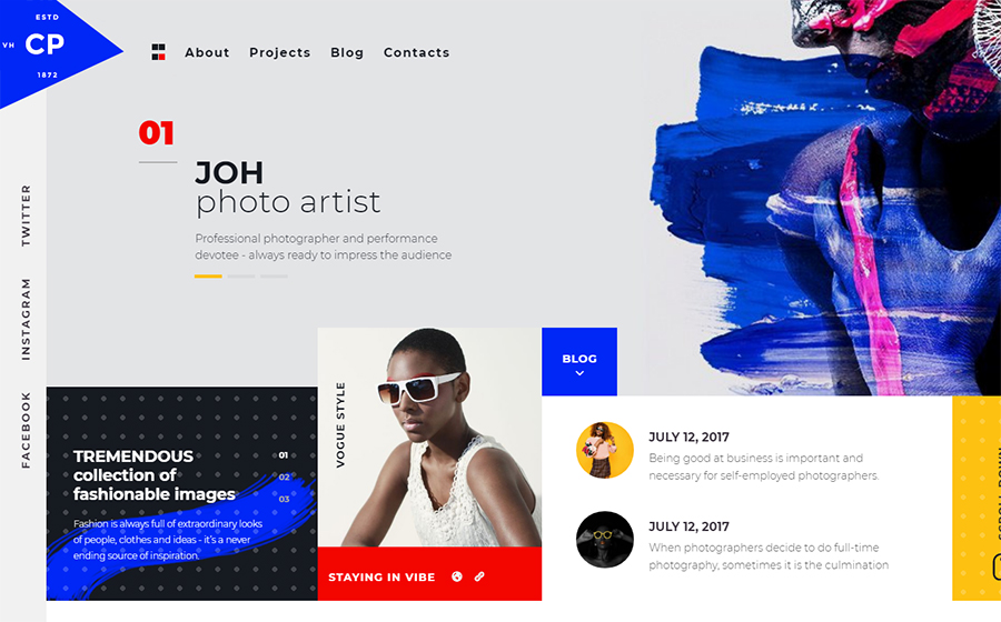 CPM- Creative Photographer Elementor WordPress Theme