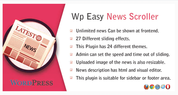 WordPress Easy News Scroller plugin