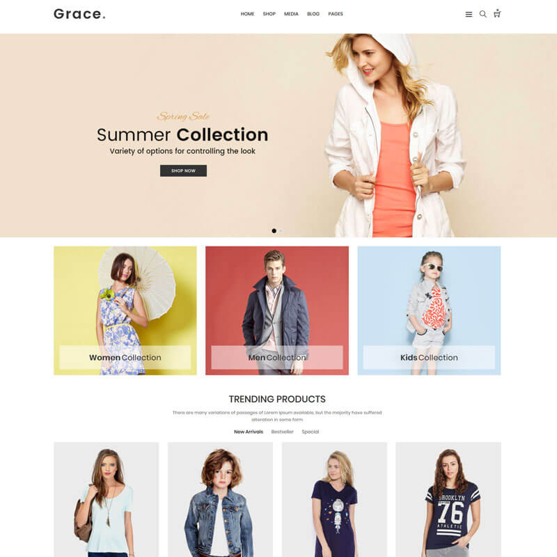 Grace - Minimal Fashion Store WooCommerce Theme