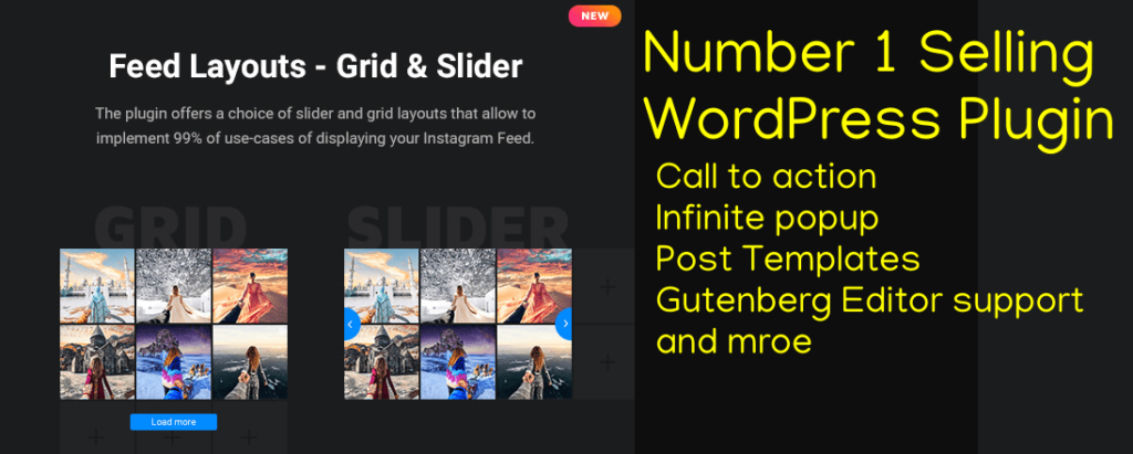 Instagram widget plugin for WordPress