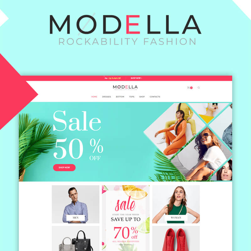 Modella - Fashion Store Elementor WooCommerce Theme